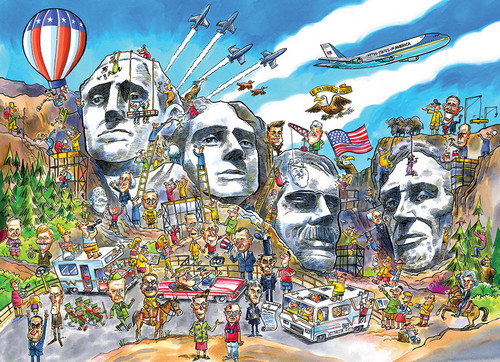 Mount Rushmore Doodletown 1000pc image