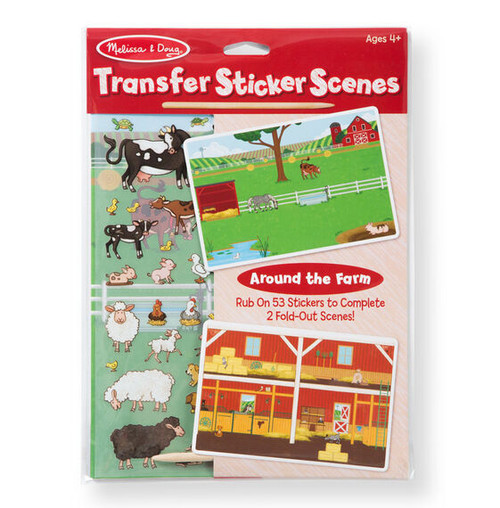 All Around the Farm Transfer Stickers