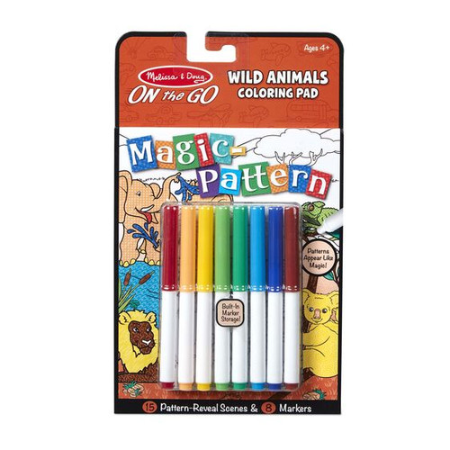 Wild Animals Magic Pattern Coloring Pad