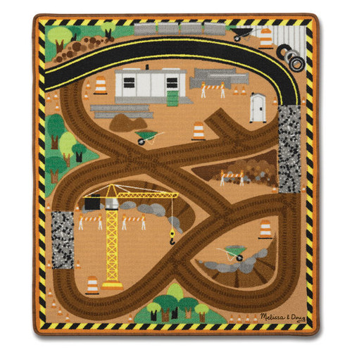 Round the Construction Zone Site Rug