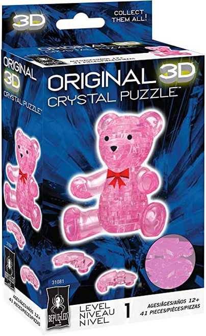 Teddy Bear (Pink) Crystal 3D Puzzle