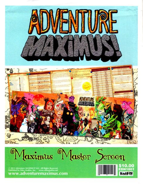 Adventure Maximus Master Screen