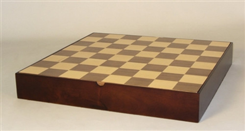 "Chessboard Chest 13.5"" Walnut & Maple Veneer w/ dividers (Sold Out)"
