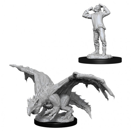 Green Dragon Wyrmling & Afflicted Elf—D&D Nolzur's Marvelous Miniatures