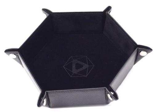 Black Hex Folding Dice Tray