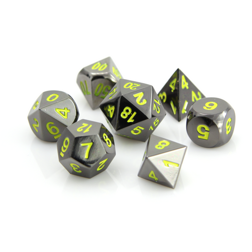 Sinister Yellow Metal Dice Set (Sold Out)