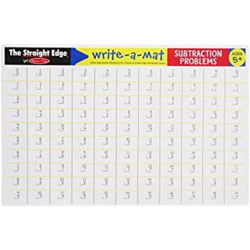 Subtraction Problems Write-A-Mat