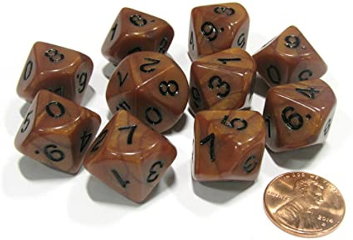 Pearlized Ten-Sided d10 Dice