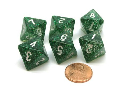Pearlized Eight-Sided d8