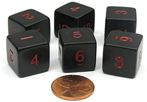 Opaque 16mm d6 numerals Dice Singles