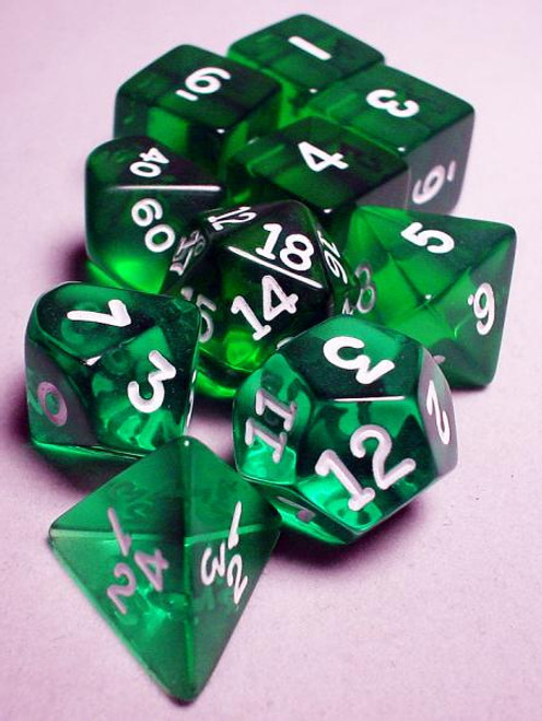 Transparent Polyhedral Dice