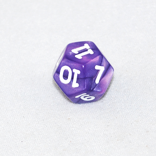 Pearlized Twelve-Sided d12