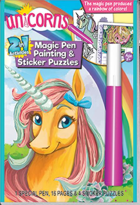 Unicorns 2in1 Magic Pen Activity Book