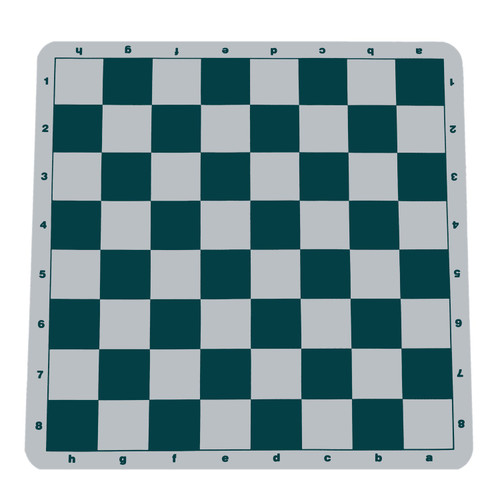 Chess Mat Green silicone roll-up