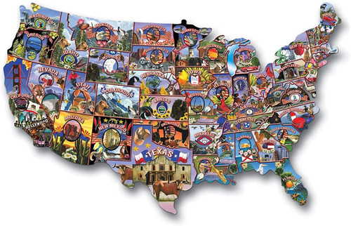 Road Trip America Shaped Puzzle