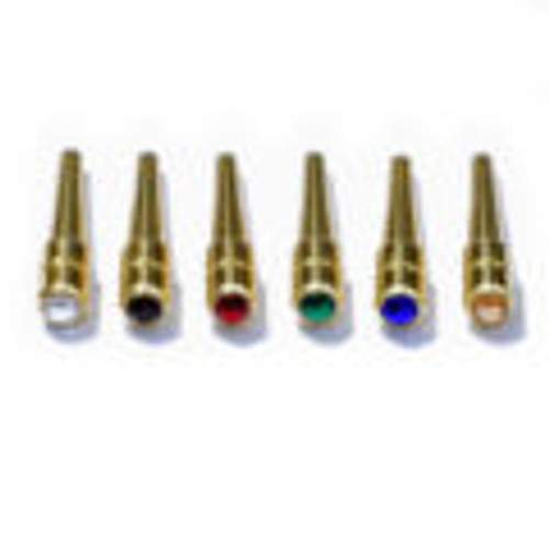 Swarovski Brass/Crystal Cribbage pegs assorted colors view A