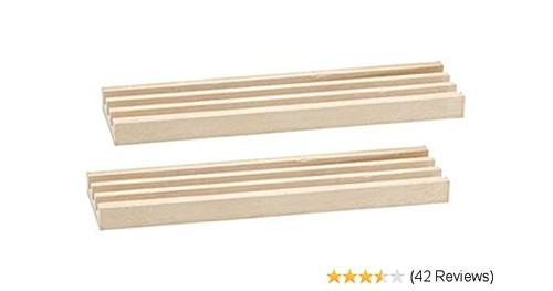 """Domino 1-Row Rack / Tray Wooden 2pc 8"""""""