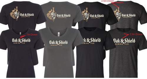 Oak & Shield branded t-shirts