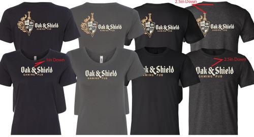 Oak & Shield branded t-shirts