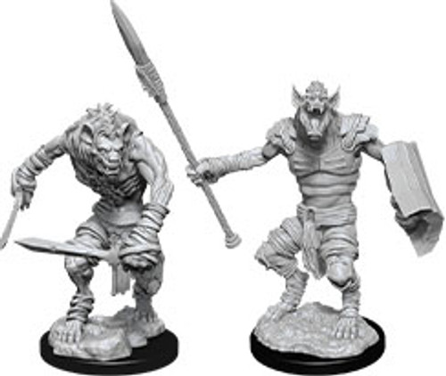 Gnoll & Gnoll Flesh Gnawer—D&D Nolzur's Marvelous Miniatures