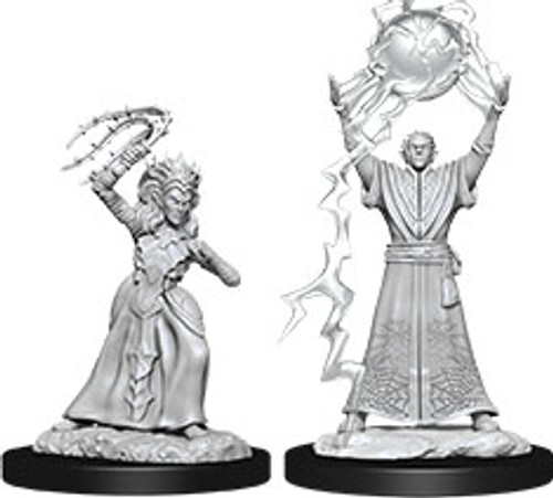 Drow Mage & Drow Priestess—D&D Nolzur's Marvelous Miniatures