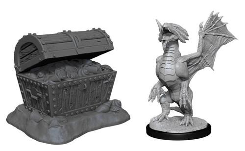 Bronze Dragon Wyrmling & Pile of Seafound Treasure—D&D Nolzur's Marvelous Miniatures