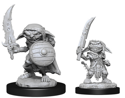 Goblin Fighter Male—Pathfinder Deep Cuts Unpainted Miniatures