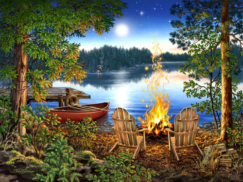 Lakeside 500pc (Wooden Jigsaw) (Sold Out)