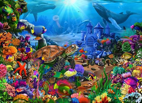Underwater Seascape 500pc (Wooden Jigsaw)