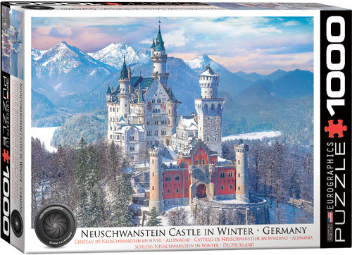 Neuschwanstein Castle in Winter 1000pc (Sold Out)