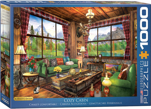 Cozy Cabin by Dominic Davison 1000pc (Sold Out)