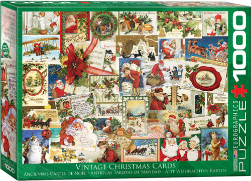 Vintage Christmas Cards 1000pc (Sold Out)
