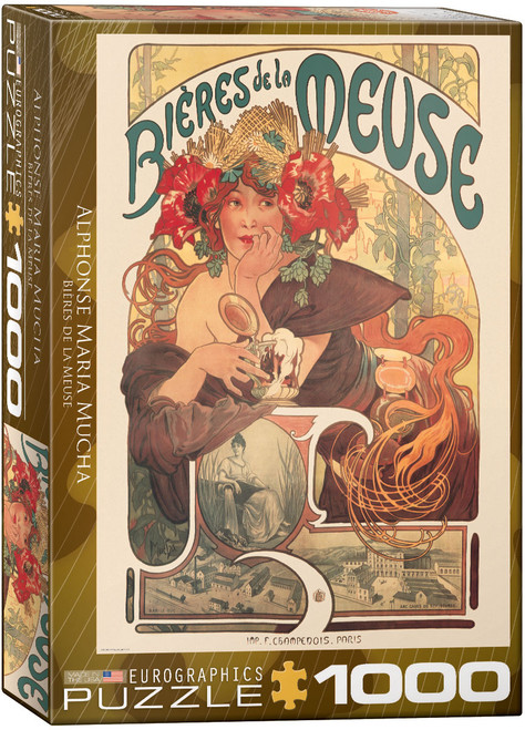 Bieres da la Meuse - Alphonse Maria Mucha 1000pc (Sold Out)