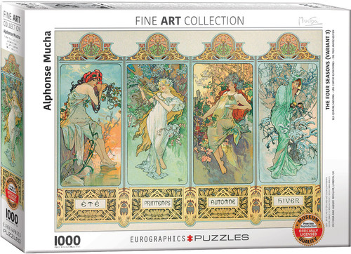 Four Seasons - Alphonse Maria Mucha 1000pc (Sold Out)