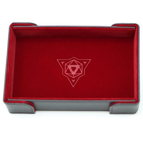 Red Magnetic Folding Dice Tray (Rectangle)