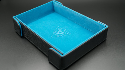 Teal Magnetic Folding Dice Tray (Rectangle)