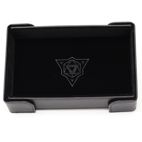 Black Magnetic Folding Dice Tray (Rectangle)