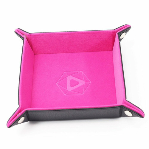 Pink Folding Dice Tray (Square)