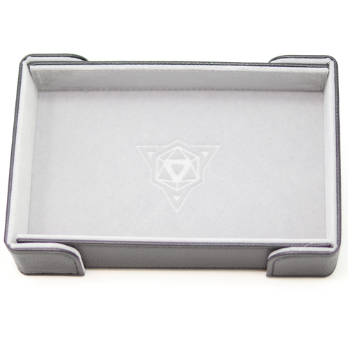 Gray Magnetic Folding Dice Tray (Rectangle)