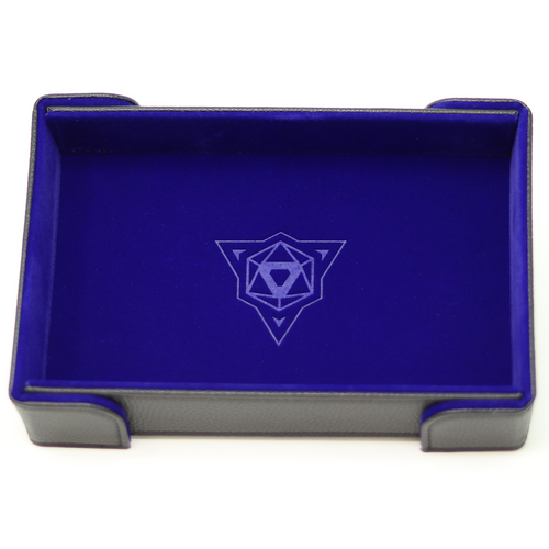 Blue Magnetic Folding Dice Tray (Rectangle)