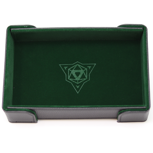 Green Magnetic Folding Dice Tray (Rectangle)