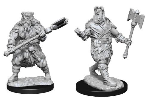 Human Barbarian Male W14—D&D Nolzur's Marvelous Miniatures W14