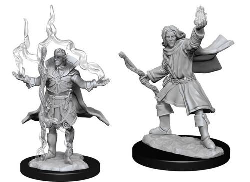 Elf Sorcerer Male—Pathfinder Deep Cuts Unpainted Miniatures (Pre-Order)