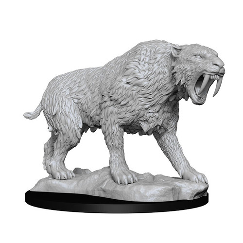 Saber-Toothed Tiger—Wizkids Deep Cuts Unpainted Miniatures (Pre-Order)