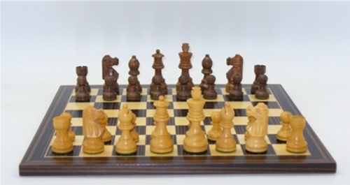 "Chess Set: 3"" French-Style Chessmen on Ebony/Maple Board (Sold Out)"