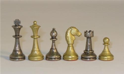 """Chessmen: 2"""" Metal, Staunton Style"""
