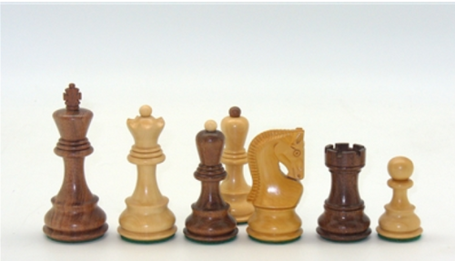 """Chessmen: 3.75"""" Kikkerwood Opposite-Tops, with Russian Style Knights (Sold Out)"""