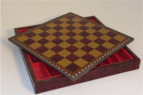 Chessboard: Burgundy & Gold Chest