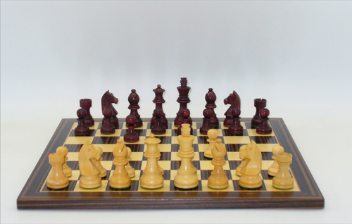 "Chess Set: 3"" Walnut & Boxwood Men on 15"" Board (Sold Out)"