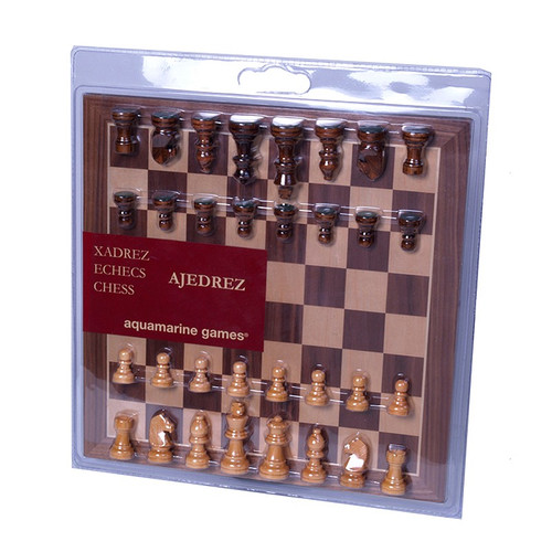 "Chess Set: Wooden 13"" Board with 2.5"" Men (Sold Out)"